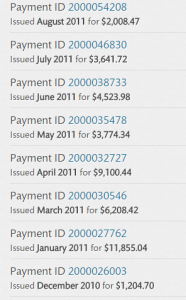 2011 B&N Payments