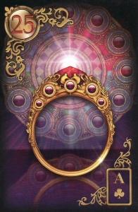 Gilded Reverie Lenormand Ring Card